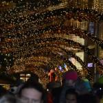 Weihnachtsbeleuchtung eingeschaltet